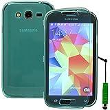Samsung Galaxy Grand NEO Grand Lite gran i9060i9062i9060i: Portfeuille libro funda carcasa de Gel de silicona + lápiz capacitivo–verde