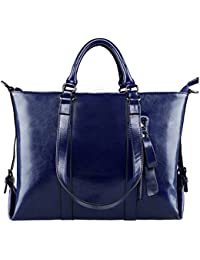 a79b11315d S-Zone 3-Way Ladies Women s Cow Split Leather Tote Bag Handbag Shoulder Bags