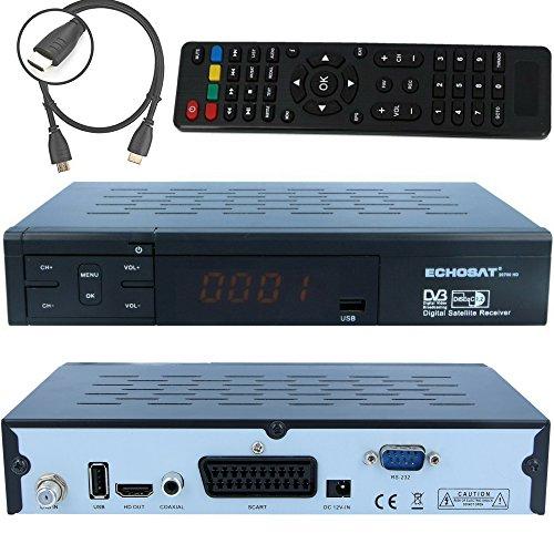 HD Digitaler Satelliten-Receiver (DVB-S / DVB-S2, HDMI, SCART) Echosat 20700 FTA Freie Kanal - Ideal Astra, Hotbird, Nilesat, Türksat ...