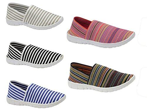 S & J, Sneakers Da Donna Strisce Nere