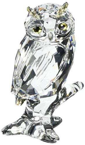 Swarovski 5043988 - Articolo decorativo, motivo gufo, 6,1 x 3,6 x 3,4 cm