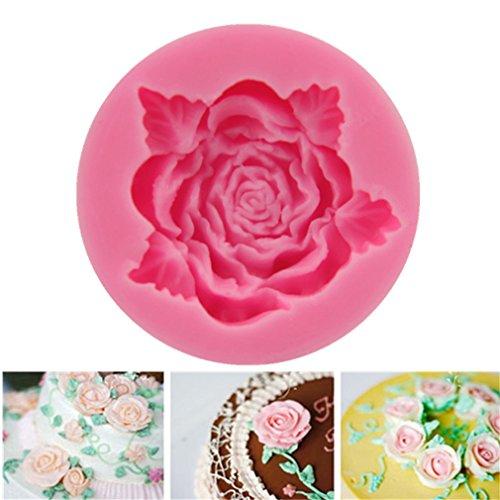 HENGSONG Mini Rose Blume Silikonform Kuchenform DIY Fondant Süßigkeiten Schokolade Form Backen Formen Dekorieren