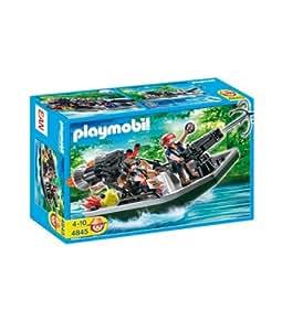 Playmobil - 4845 - Jeu de construction - Bateau à canon et voleurs