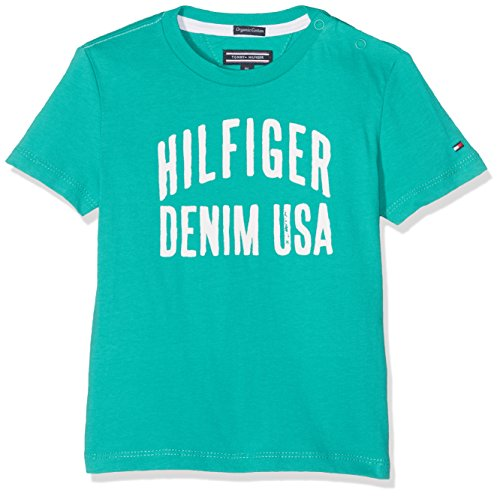 tommy-hilfiger-boys-ame-logo-cn-tee-s-s-t-shirt-green-spectra-green-379-164-manufacturer-size-14