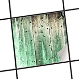 creatisto Fliesendekoration Dekorationssticker | Fliesen-Folie Sticker Aufkleber Selbstklebend Badezimmer renovieren Küche Wall Art | 10x10 cm Design Motiv Plaue Planken - 1 Stück