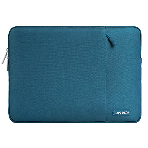 MOSISO Laptophülle Kompatibel 13-13,3 Zoll MacBook Air, MacBook Pro, Notebook Computer, Polyester Wasserabweisend Vertikale Stil Sleeve Hülle Schutzhülle Laptoptasche Notebooktasche, Deep Teal