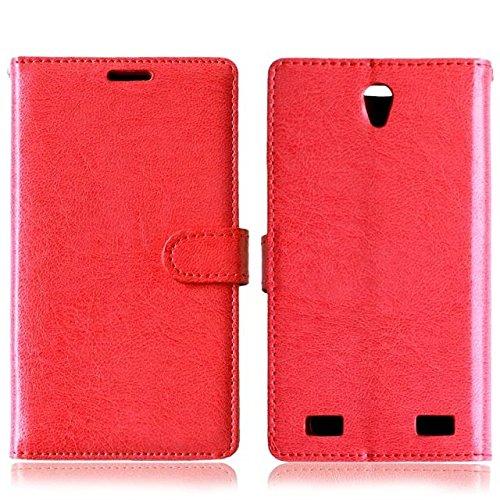 Solid Color PU-Leder-Kasten mit Silikon-Abdeckung Magnetic Kickstand Case für ZTE ZMax2 Z958 ( Color : Rose , Size : ZTE ZMax2 Z958 ) Red