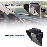 TFY Pare-soleil pour GPS avec Visière Extension Flexible pour GPS Portable Garmin Nüvi 2797LMT 7 Pouces et Autres GPS de 7 Pouces