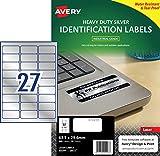 Avery L6011-20 Confezione 20 Etichette Poliestere 63.5 x 29.6