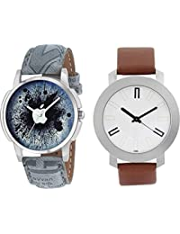 The Shopoholic Combo Latest Fashionable Blue And White Dial Analog Watch For Boys -Combo Watch Girls Below 300