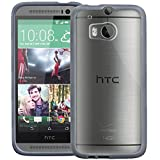 GreatShield RETAIN PC + TPU Case for HTC One (M8) 2014 - Gunmetal Gray