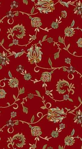 Rückseite gummiert Floral rutschfest Küche ESS-Living Badezimmer Pet Eintrag Teppiche und Läufer, Synthetisch, rot, 18