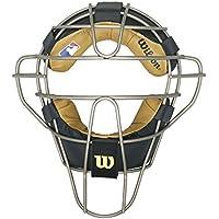 Wilson dyna-lite titanio Umpire máscara w/almohadillas de cuero - WTA3009TI, Negro