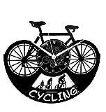 Instant Karma Clocks Horloge Murale en Vinyle Disque LP 33 Tours idée Cadeau Vintage Handmade Instant Karma-Sport Vélo Tour de France Cyclisme Cyclisme Cyclisme Silencieux