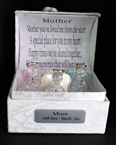 Personalizzato Mother cristallo angelo custode poesia box. - Personalizzato Box