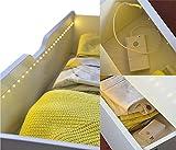 LED Lichterband Lichtband Streifenband LED-Streifen 1 Meter mit Bewegungsmelder Schubladen-Beleuchtung Schranklicht
