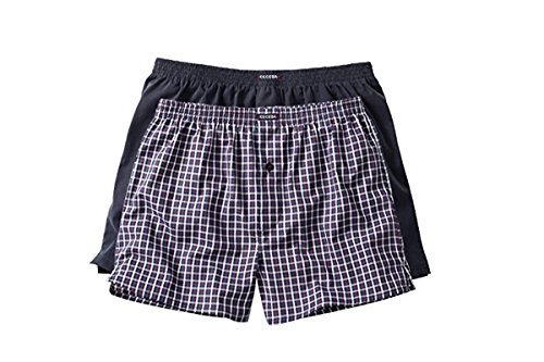 Ceceba Herren Boxershorts Web-shorts 2er Pack Navy