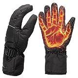 Alamor Impermeable guantes recargables calentados para Motorycle bicicleta esquí regalo unisex L XL - L