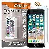 Pack 3X Pellicola salvaschermo per iPhone 7 / iPhone 8, Pellicole salvaschermo Vetro Temperato 9H+, di qualità Premium, Elettronica Rey