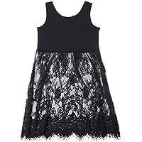 Jinyouju Womens Lace Camisole Long Tank Top Lace Trim Extender Vest Dress 59af2d6fe