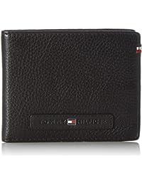 Tommy Hilfiger Leather Corporate Loop Mini CC, Bolsa para Hombre, Negro (Black), 2x9x11 cm (b x h x t)