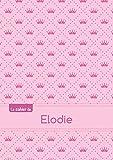 Le cahier d'Elodie - Blanc, 96p, A5 - Princesse