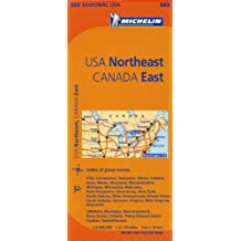 Michelin Map USA Northeast, Canada East.