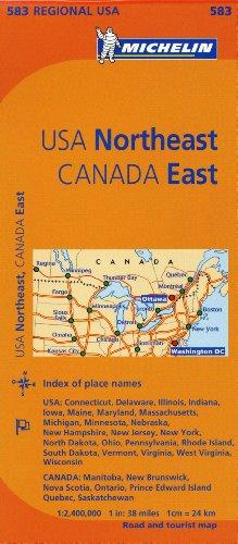 Michelin Usa: Northeast, Canada: East Map 583 (Michelin Regional Maps) por Michelin