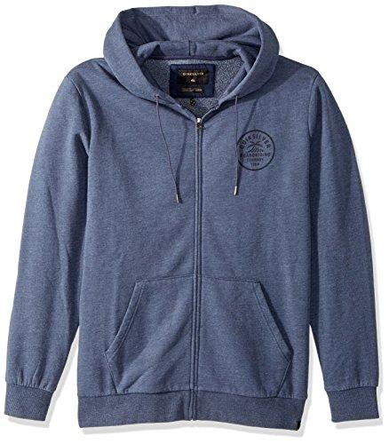 Quiksilver herren Spry Bay Zip Full Zip Sweatshirt  Kapuzenpulli  -  blau -  (Full Sweatshirt Zip Quiksilver)