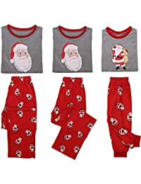 08fdfebd94 Miyanuby Pijamas de Navidad Familia Pijamas Navideñas Pijama Mujer Pijama  Hombre Pijamas Bebe Niños