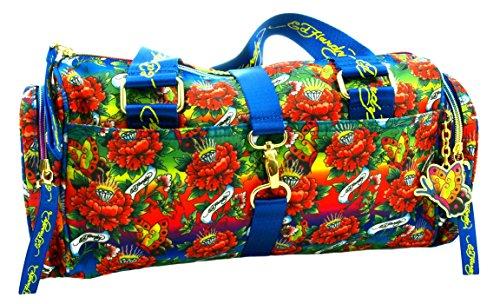Ed Hardy 1ANY050EME-Bleu Reisetasche, Koffer, Travelbag, Henkeltasche, Handtasche, Handgepäck-Tasche - Mehrfarbig / Blau - 36 cm -