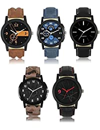 Cative Company New Stylish Multi-Color Set Of 5 Boys Combo Watch - For Men