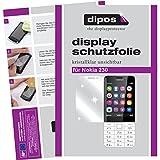 dipos I 6X Schutzfolie klar passend für Nokia 230 Folie Displayschutzfolie