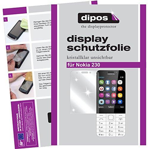 dipos I 2X Schutzfolie klar passend für Nokia 230 Folie Bildschirmschutzfolie