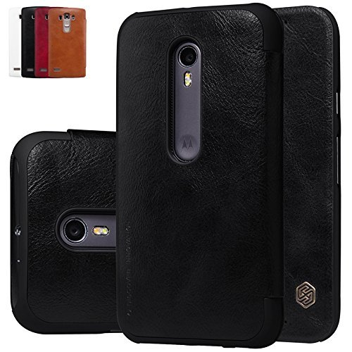 Nillkin Qin Series Leather Flip Case Cover for Motorola Moto G3 / Moto G (3rd Gen) - Black