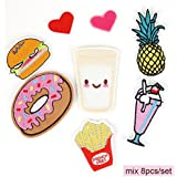 iDream Iron on Patches Embroidery Applique Decoration for Clothes L2-S15 (Pack of 8)