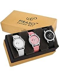 Piraso Analogue Black Dial Women's Watch -P3-12