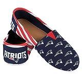 New England Patriots Women's NFL Slip On Canvas Stripe Shoe Slippers