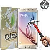 [2 Pack] Verre Trempe Samsung Galaxy S6 Cherbell Film Protection en Verre Trempé écran Protecteur Protection écran Résistant Dureté 9H Glass Screen Protector pour Samsung Galaxy S6