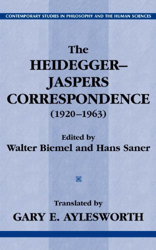 The Heidegger-Jaspers Correspondence (1920-1963) (Contemporary Studies in Philosophy and the Human Sciences.) (English Edition) por Martin Heidegger