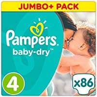 Pampers Baby Dry Taille 4 Jumbo + Lot 86 couches