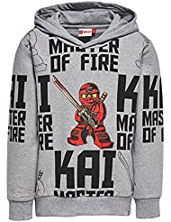 Lego Wear Ninjago Skeet 801-Sweatshirt, Sweat-Shirt à Capuche Garçon