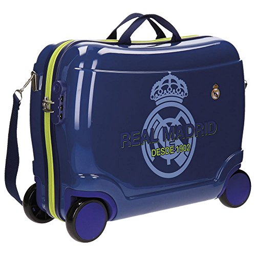 Real Madrid Classic Equipaje Infantil, 50 cm, 34 Litros, Azul
