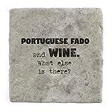 Portugiesisch Fado und Wein Was ist noch?–Marble Tile Drink Untersetzer