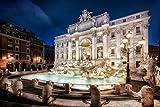 Voss Fine Art Photography Exklusives Leuchtbild aus Echtglas in Galerie Qualität. Fontana di Trevi in Rom. Open Edition. LED Hinterleuchtung. Kunst Glasbild Wandbild Bild Wanddeko