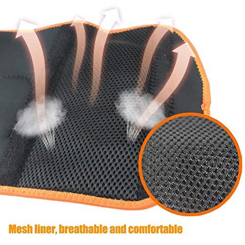 Sanmubo Fünfstufige Temperatureinstellung Knieschützer Waschbarer Knieschoner mit Doppelter Stromversorgungsmodus und 3 Verstärkungsgurte Kniestützer für Rad- Motorrad- Skifahren Outdoor Sport