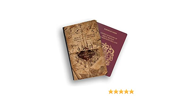 Middle Earth Map Lord of Rings Passport Wallet Travel protection Flip cover case