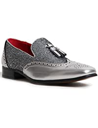 Amazon.co.uk  Silver - Loafer Flats   Men s Shoes  Shoes   Bags 3971ccb3b