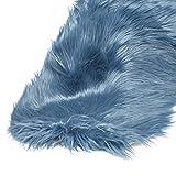 Kunst-Fell Teppich Vorleger | knuellermarkt24.de | deko 60x90 cm Weihnachten weiß alt-rosa grau Petrol Taupe blau Polyester romantisch