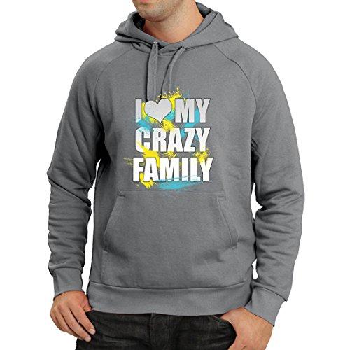lepni.me Kapuzenpullover Ich Liebe Мy Verrückte Familie - Beste Geschenkideen der Ganzen Familie (Large Graphit Mehrfarben) (Komfort-hose Dragon)